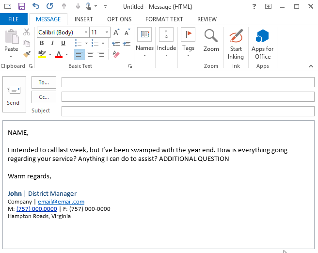 Step 2.1 Compose Email